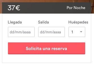 Tarifas al realizar una reserva en Airbnb