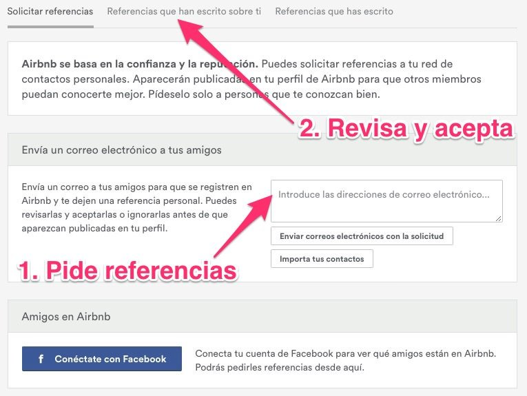 Referencias en Airbnb